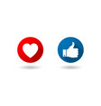like and love icons vector image