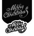 Merry Christmas Hand-written text vector image