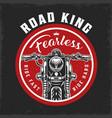 motorcycle round vintage logo vector image vector image