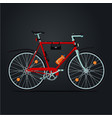 mountain bicycle realistic sport bike vector image vector image