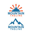 mountain logo icon graphic design template vector image vector image
