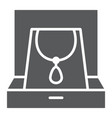 necklace in box glyph icon jewellery and vector image vector image