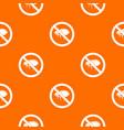 no flea sign pattern seamless vector image vector image