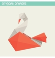 origami isolated animal Cute Swan vector image