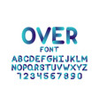 over font alphabet vector image