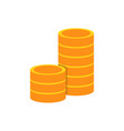 pile of coins flat icon vector image vector image
