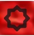 ramadan icon on blurred background vector image