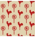 Seamless pattern cock lollipop vector image