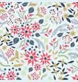 seamless pattern elegant christmas flower vector image