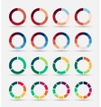 Segmented and multicolored pie charts set vector image vector image