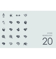 Set of neurology icons vector image