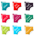 Set of sale square stickers web shop vector image