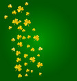 shamrock background for saint patricks day vector image vector image