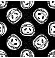 space helmet panda pattern vector image