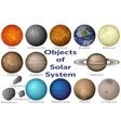Space Objects of Solar System Set vector image vector image