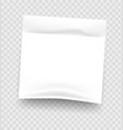 sticky notes realistic white notepad sheet vector image vector image
