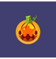 Stylised Simple Pumpkin Lamtern vector image vector image