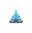 town drone logo icon design vector image