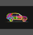 tuned suv sketch for your design vector image vector image
