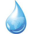 Water drop globe vector | Price: 1 Credit (USD $1)