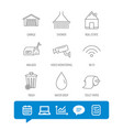 Wi-fi video monitoring and real estate icons
