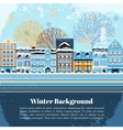 Winter invitation postcard template vector image vector image