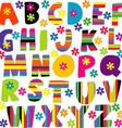 Happy alphabet set vector image