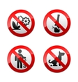 set prohibited signs - park vector image