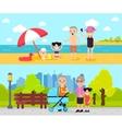 Active Recreation Horizontal Banners vector image