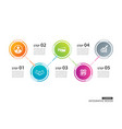 5 circle timeline infographic template business vector image vector image