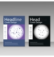 abstract molecular structure Brochure vector image vector image