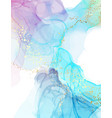 abstract watercolor blue marble painting modern vector image