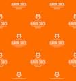 alarm clock pattern orange vector image vector image