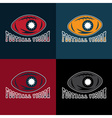 american football vision design template vector image