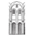 bay of speyer cathedral bay cathedral vector image vector image