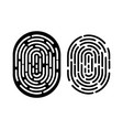 black and white fingerprint vector image