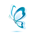Blue butterfly beauty concept isolated symbol vector | Price: 1 Credit (USD $1)