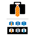briefcases icons vector image vector image