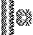 Celtic Irish knots braids and patterns vector image vector image