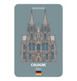 cologne cathedral in cologne germany vector image