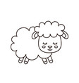 cute smilng funny sleeping sweet sheep vector image