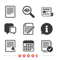 document icons download file and checkbox vector image
