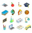 Education isometric 3d icons set vector image