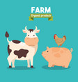 farm animal icon vector image vector image