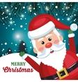 funny santa claus card merry christmas snowfall vector image