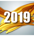 gold 2019 happy new year greeting card banner vector image vector image