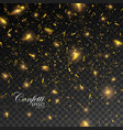 golden confetti glitters vector image vector image