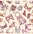 hand drawn icons underwear vector image vector image