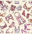 hand drawn icons underwear vector image vector image