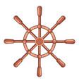handwheel icon cartoon style vector image